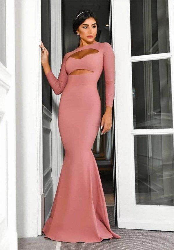 Vestido Det Busto Rosa
