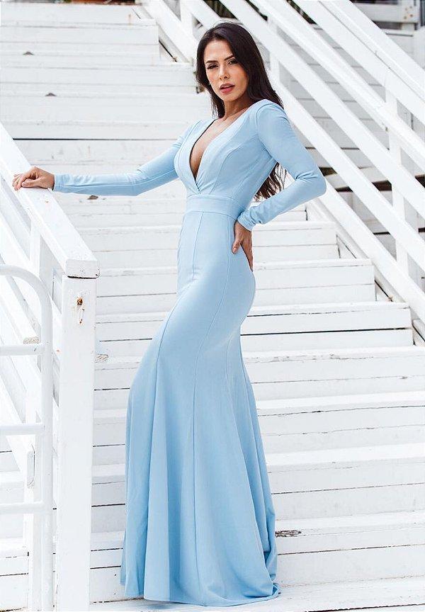 Vestido Elaine Azul Serenity