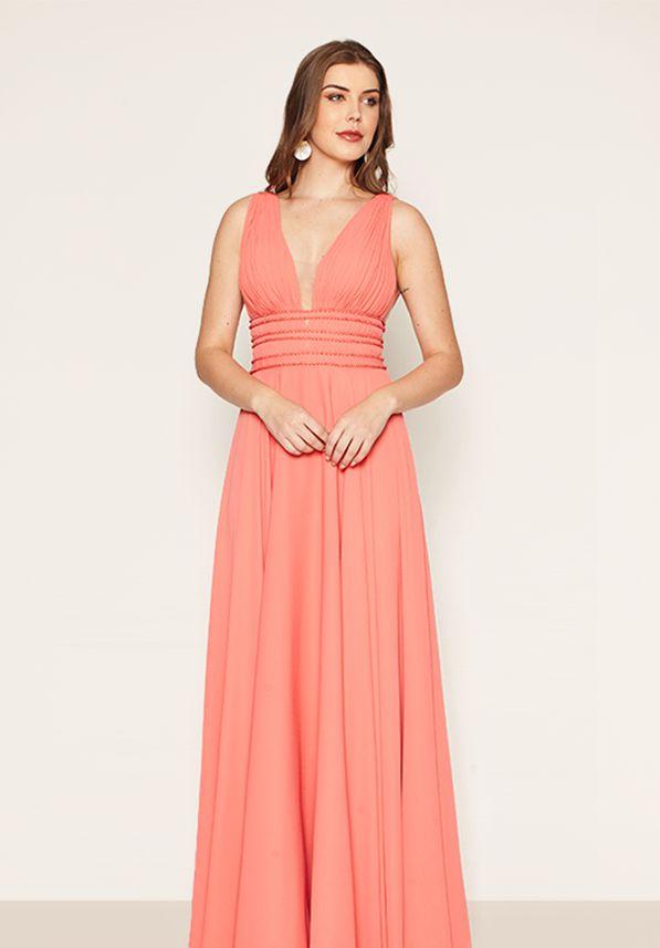 Vestido Pérola Coral