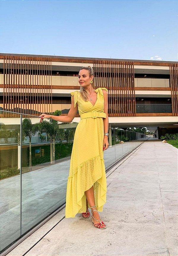Vestido Poá Amarelo