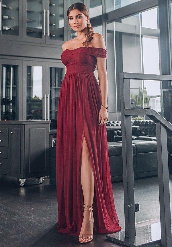 Vestido Munique Marsala