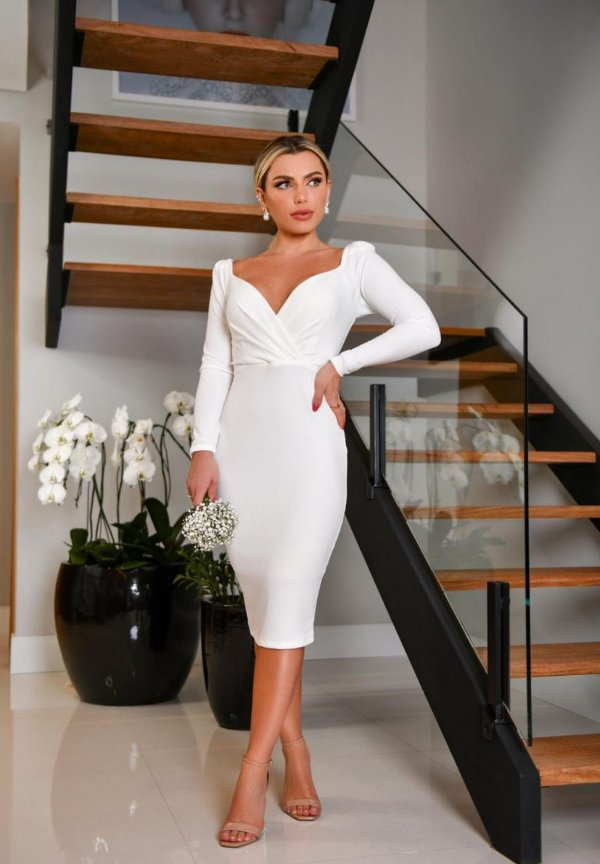 Vestido Ana Branco