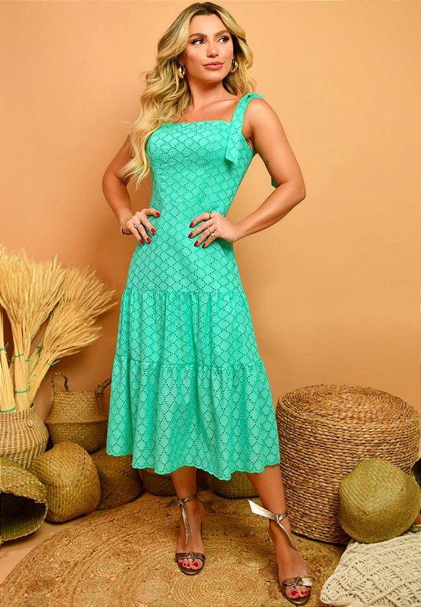 Vestido Emanuelly Verde