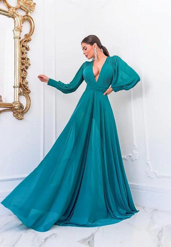 Vestido Grace Verde Esmeralda