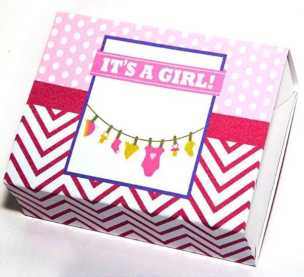 Caixa Temática - Chá de Bebê Menina c/10 unidades