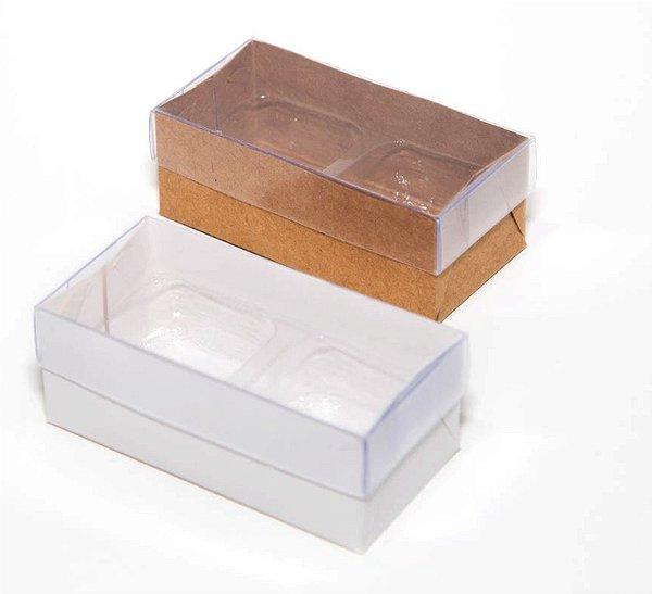Caixas para 02 doces c/20 unidades (altura 3 cm)