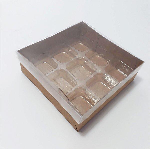 Caixas para 09 doces (12x12x4 cm) Pct c/20 unidades