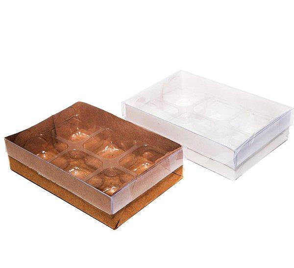 Caixas para 06 doces c/20 unidades (altura 4 cm)