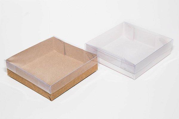Caixa para 04 Brownies  c/20 unidades (altura 3 cm)