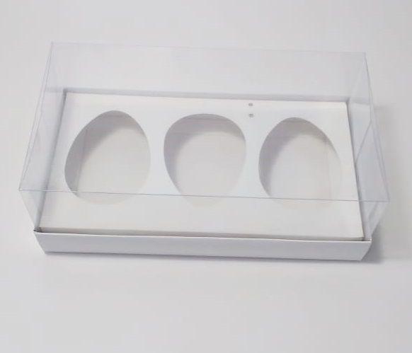 Caixa Páscoa para Ovo de Colher Trio de 100 gramas c/ 20 unidades