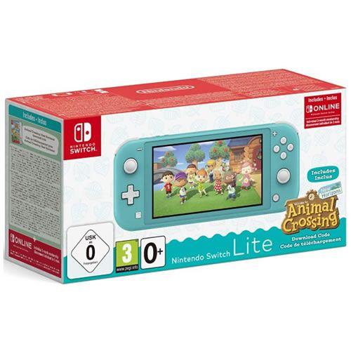Console Nintendo Switch Lite Animal Crossing Bundle Turquesa - Nintendo