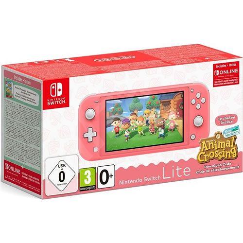 Console Nintendo Switch Lite Animal Crossing Bundle Coral - Nintendo