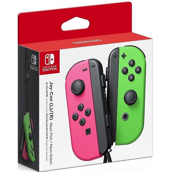 Controle Joy-Con L/R Rosa e Verde - Switch