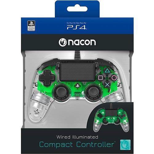 Controle Com Fio Compacto PS4 com led verde - Nacon [Seminovo]