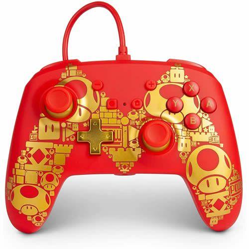 Controle com Fio PowerA Super Mario - Switch