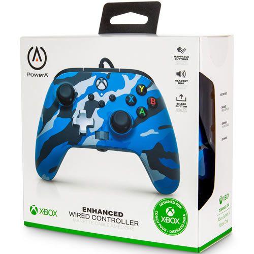 Controle Com Fio PowerA Xbox Series S/X Azul Camuflado - PowerA