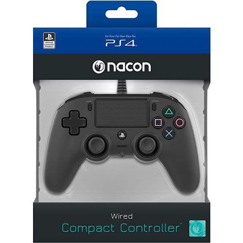Controle com Fio compacto PS4 Preto - Nacon