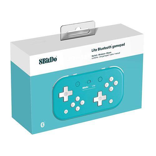 Controle 8Bitdo Bluetooth Lite - Switch , Windows , Steam - Turquesa