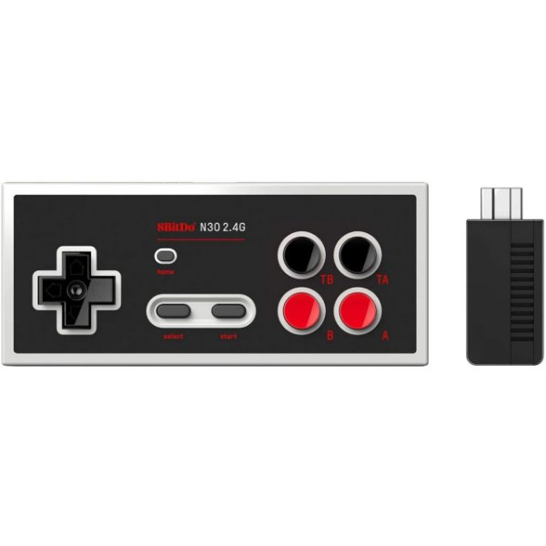 Controle 8Bitdo Bluetooth N30  - Switch Online Games - Preto