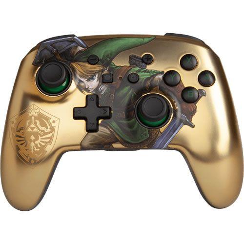 Controle Sem fio Para Switch The Legend of Zelda Link Gold - PowerA