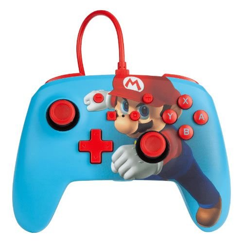 Controle Com Fio PowerA Mario Punch - Switch