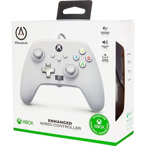 Controle Com Fio PowerA Branco - Xbox Series S/X