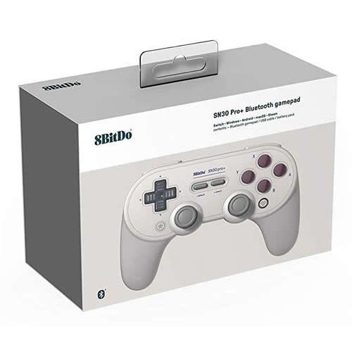 Controle 8Bitdo Bluetooth SN30 - Switch , Windows , MacOS , Android - Famicom Color