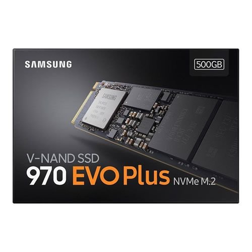 SSD Samsung 970 EVO Plus, 500GB, M.2 NVMe, Leitura 3500MB/s, Gravação 2300MB/s - MZ-V7S500BW