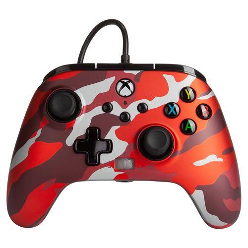 Controle Com Fio PowerA Vermelho Camuflado - Xbox Series S/X