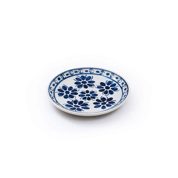 Prato Sobremesa 18,5cm Colonial Azul