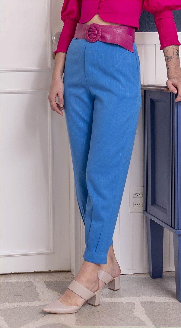 Calça Hot Azul Royal Sem Cinto