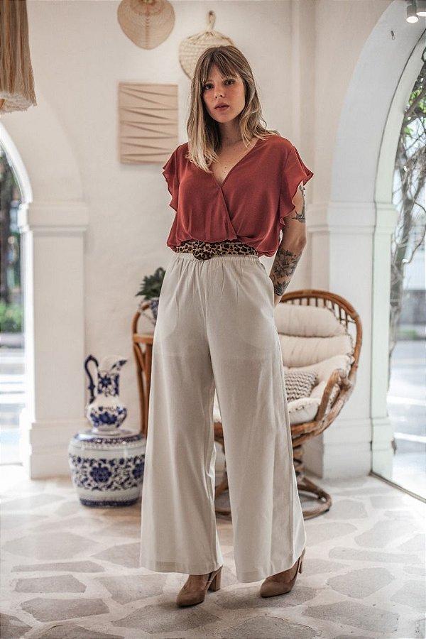 Pantalona Noronha Off White