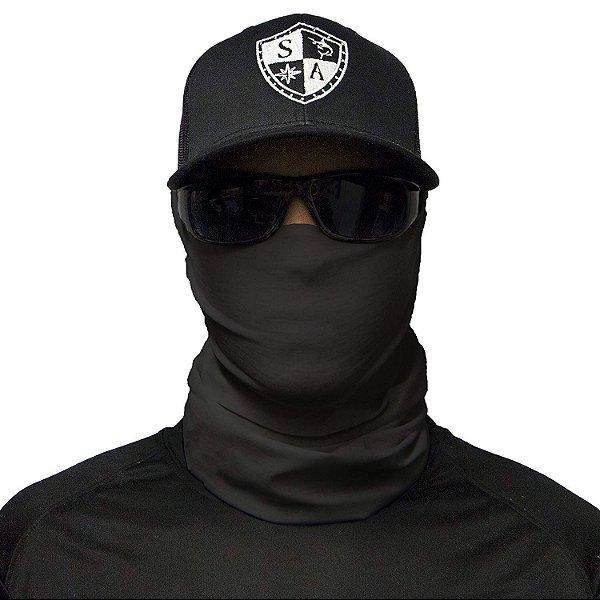 Bandana Balaclava Face Shield Preta Tática Importada