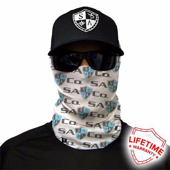 Bandana Balaclava Face Shield Logo Sa Co. - Branca
