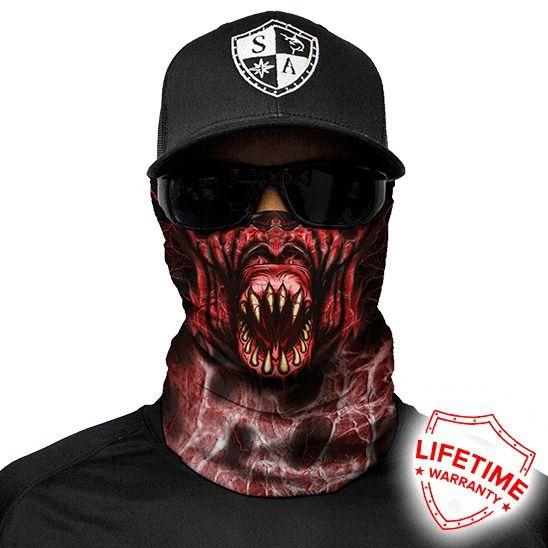 Bandana Balaclava Face Shield Fiend - Vermelho