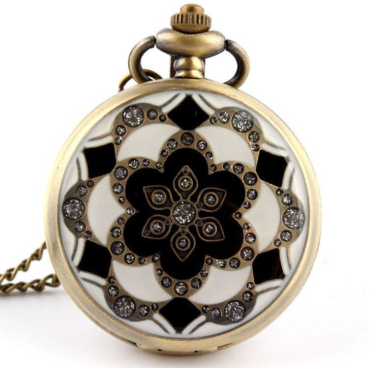 Relógio De Bolso Pai Sho Flor De Lótus Japonesa