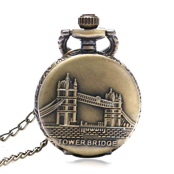 Mini Relógio de Bolso Tower Bridge