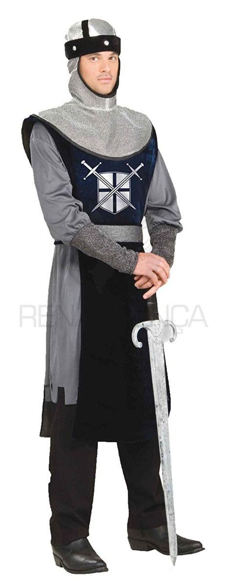 Fantasia Cosplay Cavaleiro Templário Medieval