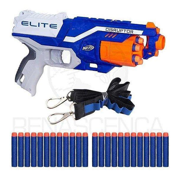 Arma De Brinquedo Nerf Disruptor + Bandoleira + 30 Dardos