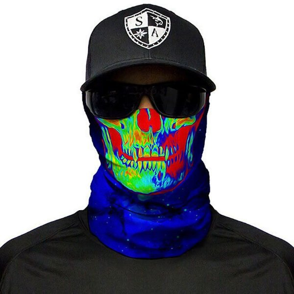 Bandana Balaclava Face Shield Galactic Skull