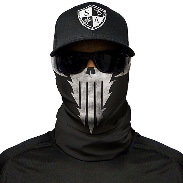 Bandana Balaclava Face Shield Skull Tech Sinister