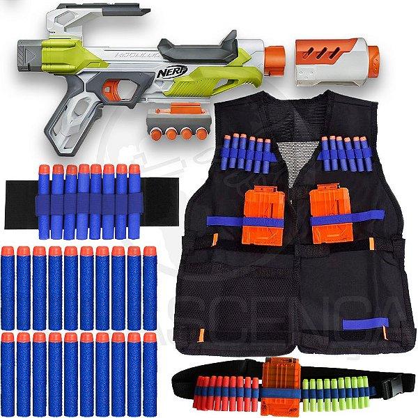 Kit Lançador Nerf Ionfire + Colete + Acessórios + 30 Dardos Brinquedo