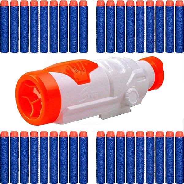 Kit Básico Scope Luneta + 30 Dardos P/ Armas De Brinquedo Nerf