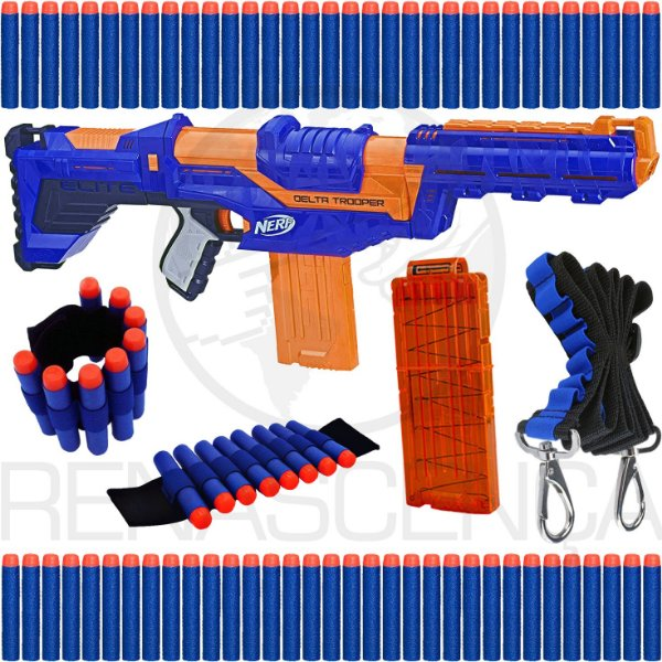 Lançador Nerf Delta Trooper + Acessórios + 40 Dardos Bala Brinquedo