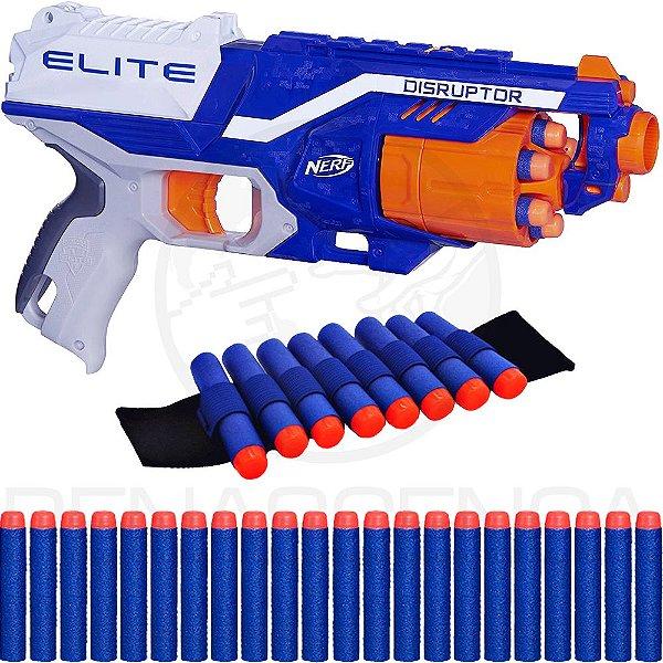 Lançador Nerf Disruptor + Pulseira + 40 Dardos de Brinquedo