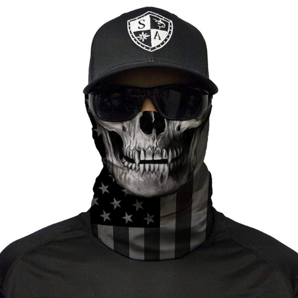 Bandana Balaclava Face Shield Blackout American Flag Caveira Pesca Moto Camping