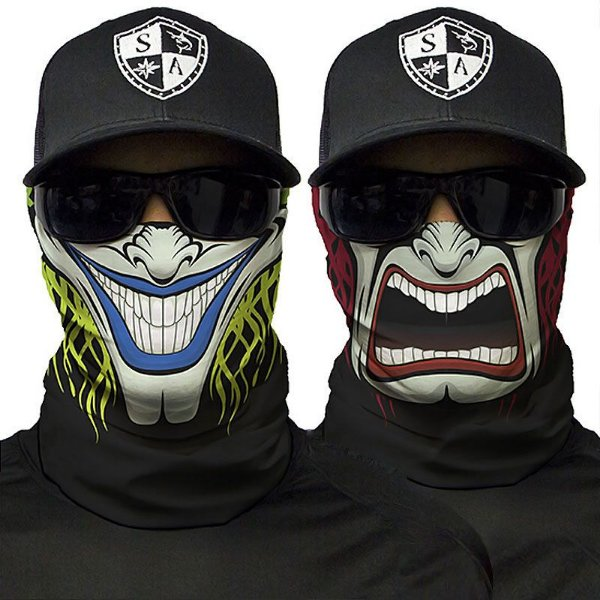 Bandana Balaclava Face Shield Two-sided Caça Moto Pesca Camping
