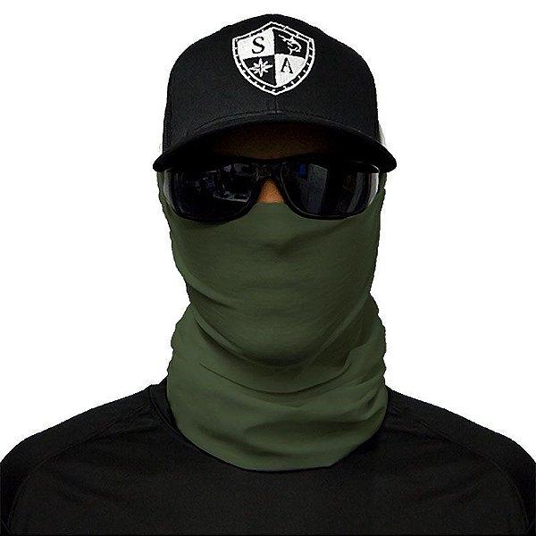 Bandana Balaclava Face Shield Tática Verde Exército Padrão Militar