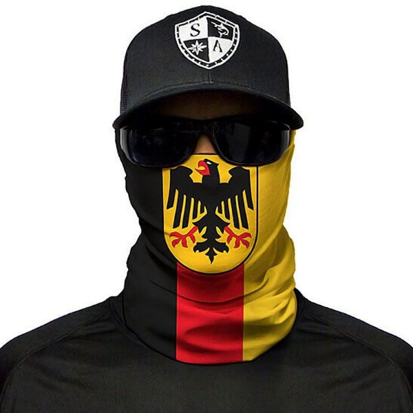 Bandana Balaclava Face Shield Bandeira Alemanha Pesca Moto Caça Camping