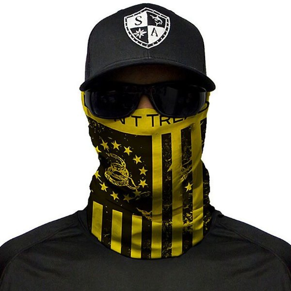 Bandana Balaclava Face Shield Don't Tread On Freedom Bandeira de Gadsden Libertário